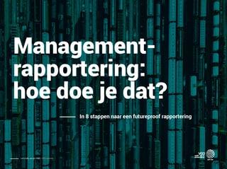 VGD e-book Managementrapportering hoe doe je dat