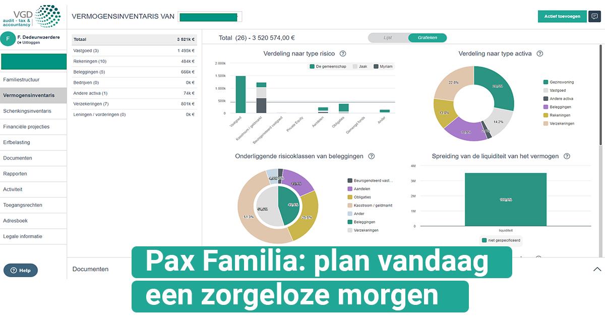 VGD Pax Familia: plan vandaag voor morgen!