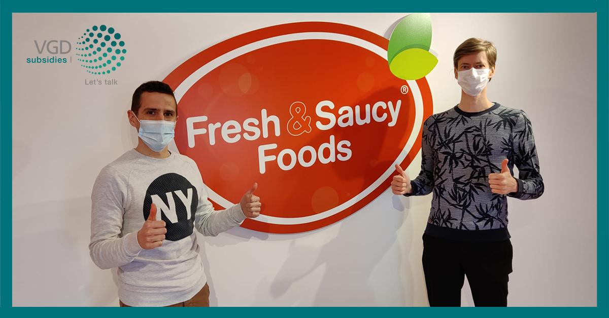 Fresh & Saucy Foods ondersteunt groei met VGD Subsidies